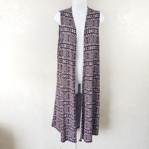 Lularoe Joy Long Duster Cardigan Vest